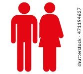 married couple icon. vector... | Shutterstock .eps vector #471194627