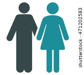 married couple icon. vector... | Shutterstock .eps vector #471202583