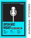 open mic night   flat style...   Shutterstock .eps vector #471218363