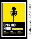 open mic night   flat style... | Shutterstock .eps vector #471218423