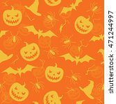 halloween seamless pattern with ... | Shutterstock .eps vector #471244997