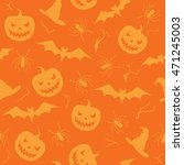 halloween seamless pattern with ... | Shutterstock .eps vector #471245003