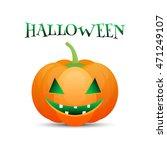 halloween pumpkin jack o lantern | Shutterstock . vector #471249107