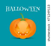 halloween pumpkin jack o lantern | Shutterstock . vector #471249113