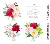 surprise bouquets of rose ... | Shutterstock .eps vector #471250103