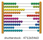 european abacus counting frame. ... | Shutterstock .eps vector #471265463