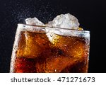 A Cool Glass Of Cola Drink Wit...