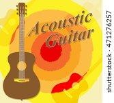 acoustic guitar showing rock... | Shutterstock . vector #471276257
