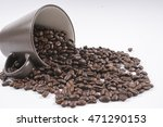 coffee beans isolated on white. ... | Shutterstock . vector #471290153