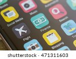 smartphone home screen  finance ... | Shutterstock . vector #471311603