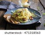 Pasta Carbonara. Spaghetti Wit...