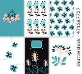 flowers set | Shutterstock .eps vector #471367727
