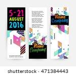 banners set  trendy geometric... | Shutterstock .eps vector #471384443