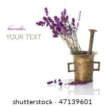 lavender and antique mortar...   Shutterstock . vector #47139601