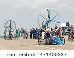 Small photo of Den Helder, Noord Holland/The Netherlands - August 20 2016: Racing Aeolus Den Helder, The Netherlands. One of the largest sustainability races in the world. Sailing against the wind.