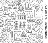 seamless pattern with science... | Shutterstock .eps vector #471405197