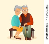 old couple vector illustration. ... | Shutterstock .eps vector #471430253
