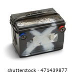 old dead car battery isolated... | Shutterstock . vector #471439877