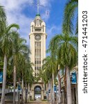 Small photo of HONOLULU, HI - AUG 6: the gateway to Honolulu Harbor, the Aloha Tower on August 6, 2016 in Honolulu, Hawaii. Aloha Tower has been added to the National Historical Registry.