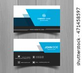 modern business card | Shutterstock .eps vector #471458597