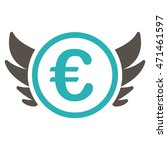 euro angel investment icon.... | Shutterstock . vector #471461597