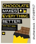chocolate makes everything...   Shutterstock .eps vector #471489917