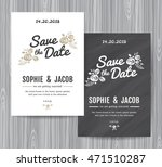 wedding invitation vintage card ... | Shutterstock .eps vector #471510287