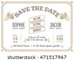 wedding invitation vintage card ...   Shutterstock .eps vector #471517967