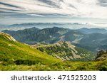 Mountain Landscape From Hill...
