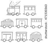 vector set of train | Shutterstock .eps vector #471530363