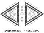 hipster mystic sacred geometry... | Shutterstock .eps vector #471533393