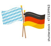 Germany And Bavaria Flags...