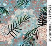 seamless pattern with tropical... | Shutterstock .eps vector #471549293