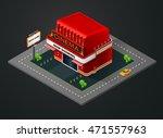 isometric cinema  isometric...   Shutterstock .eps vector #471557963