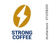 coffee bean and power symbol.... | Shutterstock . vector #471558203