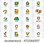 set of abstract vector company... | Shutterstock .eps vector #471566597