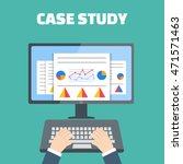 case study concept with... | Shutterstock . vector #471571463