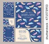 set of wedding cards. wedding... | Shutterstock .eps vector #471573953