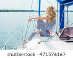 young sexy woman on her private ...   Shutterstock . vector #471576167