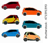 collection of colored cars... | Shutterstock .eps vector #471591593