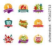 birthday badge banner design... | Shutterstock .eps vector #471612713