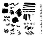 set of black paint  ink brush... | Shutterstock .eps vector #471614033