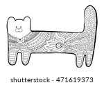 Funny Cat. Coloring Book For...