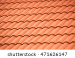 New Roof Tiles Close Up Detail...
