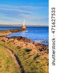 lighthouse in aberdeen  scotland   Shutterstock . vector #471627533