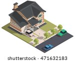 family house isometry. hyper... | Shutterstock .eps vector #471632183