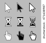 cursor set   mouse hand arrow... | Shutterstock .eps vector #471638987