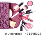 make up bag with cosmetics make ... | Shutterstock . vector #471648323