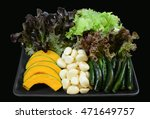 healthy food with black... | Shutterstock . vector #471649757