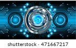 blue silver eye abstract cyber... | Shutterstock .eps vector #471667217